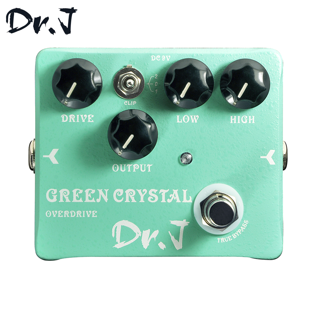 Dr.J D50 Stompbox Green Crystal Overdrive Electric Guitar Effect Pedal True Bypass Musicial Instrument new pegasus overdrive pedal guitar effects pedal high power drive booster tube overload stompbox true bypass free shipping