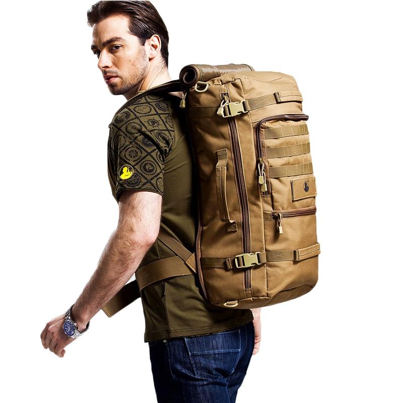 Large Capacity Travel Backpack Men Bags Multifunction Mountaineering Backpacks Shoulder Bag Luggage Bags Male Oxford Backpacks