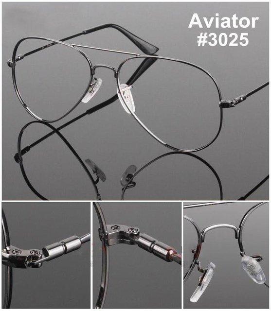 Free Shipping Memory Titanium Airman Aviatorr Pilot Optical Prescripton spectacle eye point eyeglasses frame oculos de grau oukn