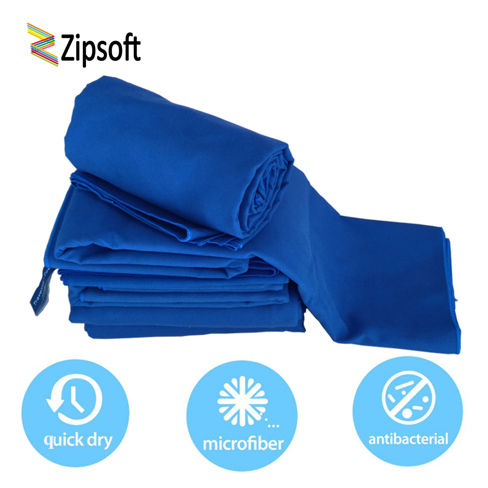 Zipsoft Beach Towel Microfiber Quick-drying Towels Blue Lightweight Baby Adults Travel Blanket Yoga Mat Soft Antimicrobial S/M/L