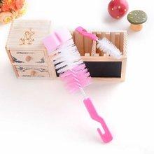 Baby Milk Feeding Bottle Brushes Nipple Teapot Nozzle Spout Tube Teat 360 Degree Sponge Cleaning Brush Set Cup Brush