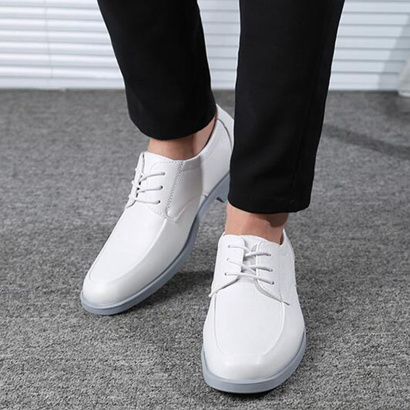 boda blanco zapatos para hombres tamaño grande 39 48 cuero auténtico