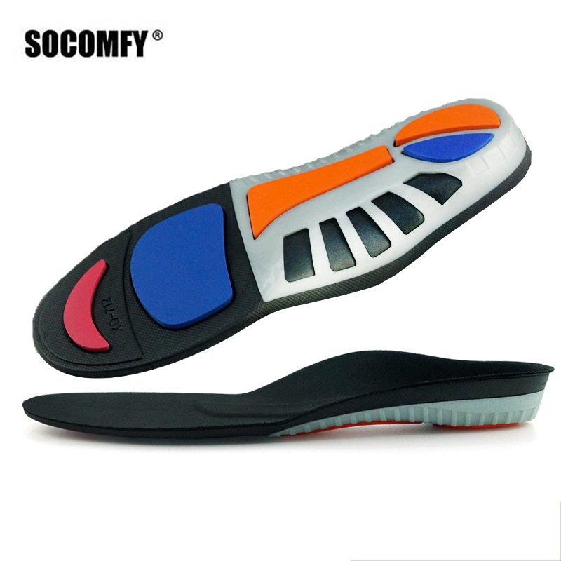 SOCOMFY Total Support Sports Insoles Arch Supports Inserts Pain Relief Shoes pads Breathable Elastic Shock Absorbing Insoles