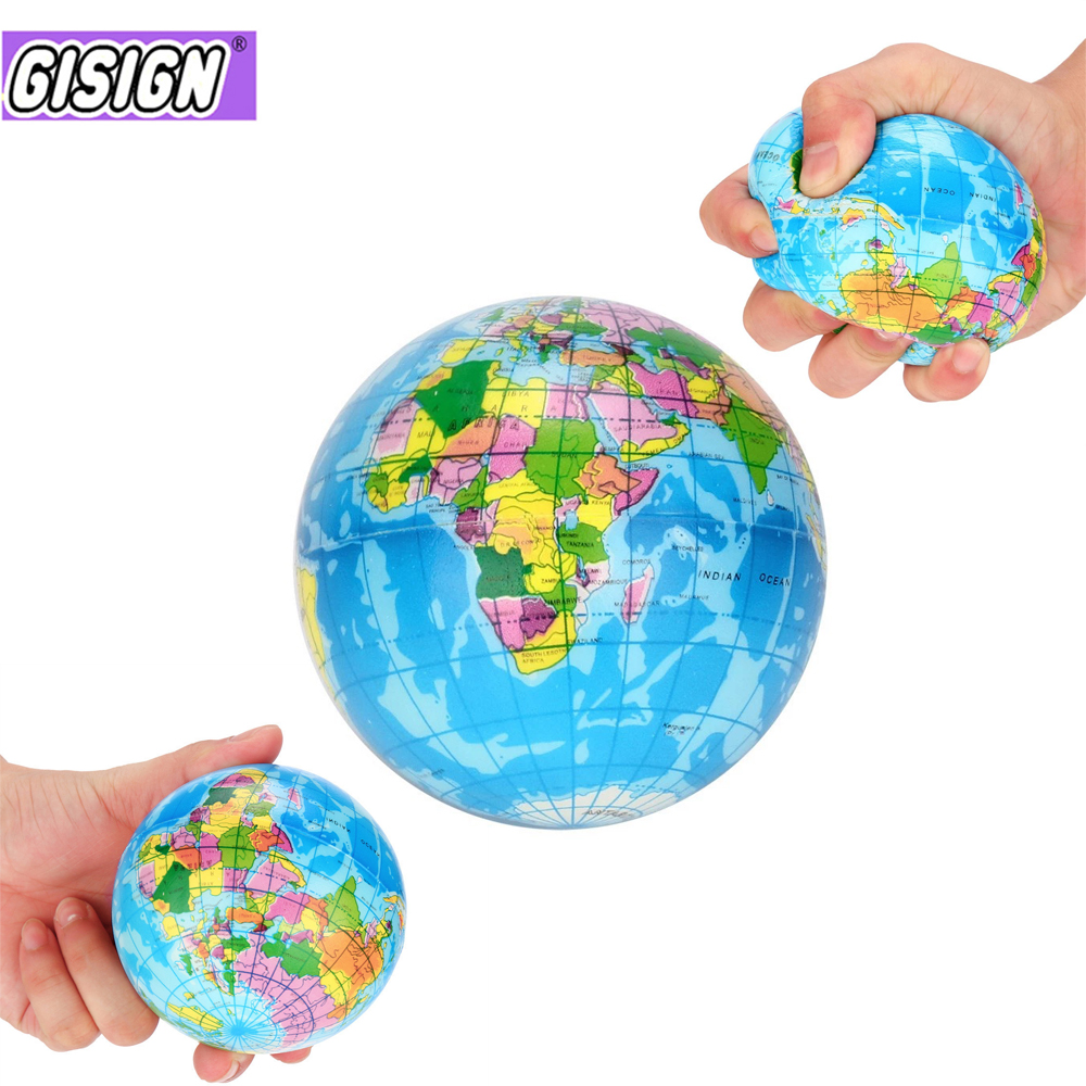 New Stress Relief Decor World Map Foam Ball Atlas Globe Palm Planet Earth Ball squeeze toy Squishy Anti-stress toys for childrenNew Stress Relief Decor World Map Foam Ball Atlas Globe Palm Planet Earth Ball squeeze toy Squishy Anti-stress toys for children