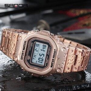 Image 4 - 三田メンズ腕時計トップブランドの高級ledデジタル腕時計メンズファッション防水スポーツ時計男性時計レロジオmasculino