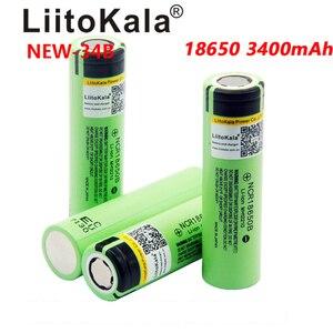 Image 4 - 2019 2PCS LiitoKala new original NCR18650B 34B 3.7V 18650 3400mAh rechargeable lithium battery  flashlight bat