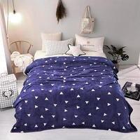 New super soft air condition coral fleece flannel fabric blanket baby sofa throw plaid cartoon winter qulit plush bedsheet