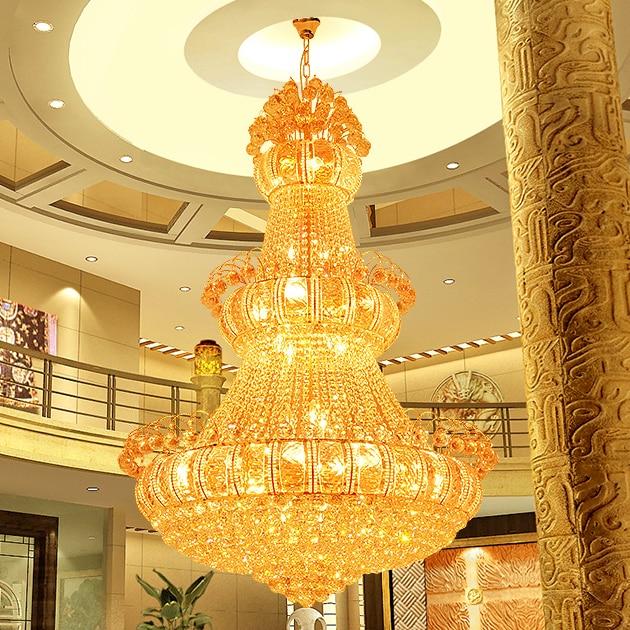 Zlate kristalne lusterje luči pritrditev velike moderne kristalne - Notranja razsvetljava - Fotografija 3