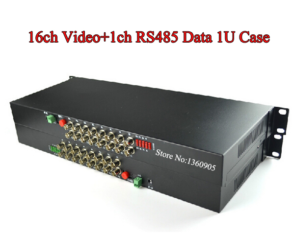 High quality 1pair 16v1d 16channel video/data/Audio fiber optic media converter,RS485,up 20KM,FC interface,Anti-lightning rs232 to rs485 converter with optical isolation passive interface protection