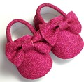 New glitter  sequins baby dress shoes PU Leather Baby Moccasins bow Tassels Girls Chaussure First Walker Toddler Moccs 0-24M