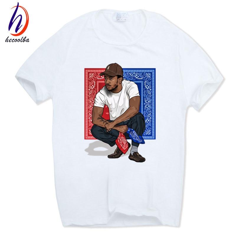 Hombres Imprimir Kendrick Lamar Camiseta Manga Corta O-cuello Verano Americano rapero Tema musical Camiseta ocasional Swag HCP554