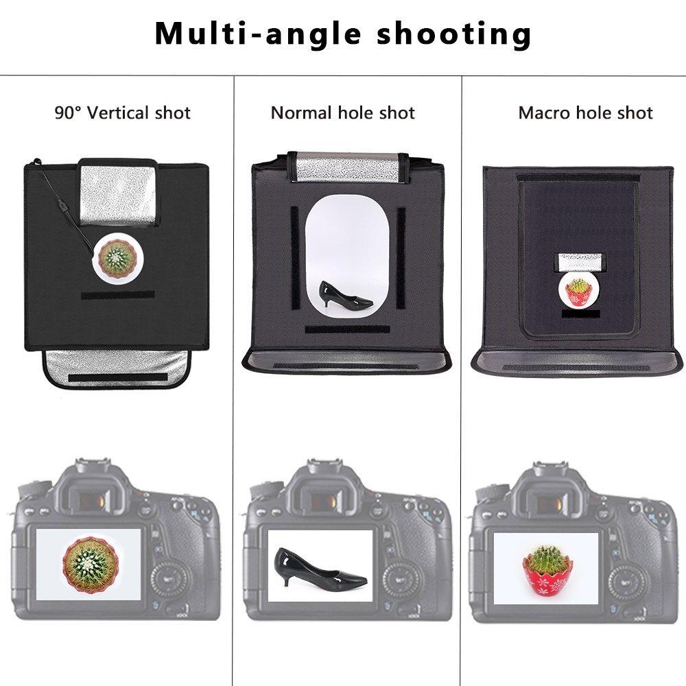 capsaver F40 40*40cm LED Light Box Portable Folding Lightbox Photography Studio Light Tent Backgrounds Jewelry Shooting Softbox