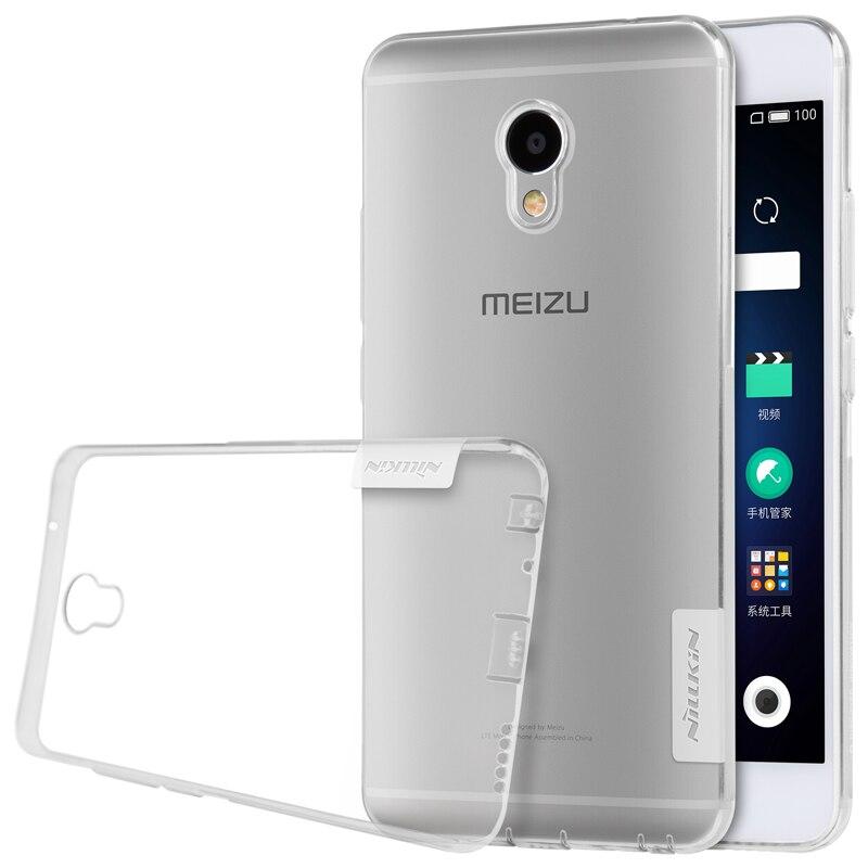 Nillkin nature Transparent Clear Soft silicon TPU Protector case cover for meizu m3e case cover 5