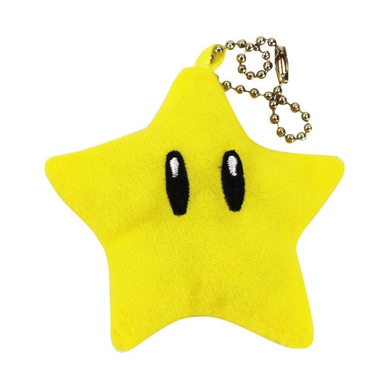 7 Cm Super Mario Bros Bintang Mewah Mainan Kuning Luma Bintang Gantungan  Kunci Kawaii Boneka Mainan 75fc96cfd2