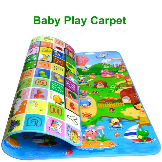 Novo Tapete Crawling Pad Crianças Jogos Do Bebê Tapete Crawling Mat Piso Macio Pad EVA 1.8*1.2 m