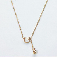 925 sterling silver golden cat bell necklace fresh hollow clavicle chain new product DN01