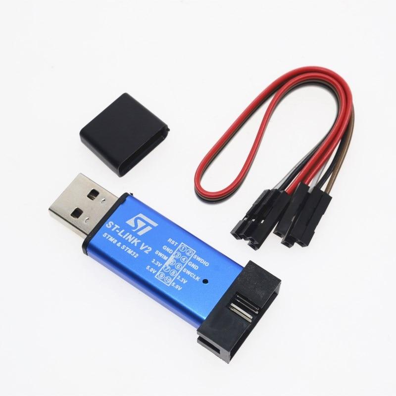 St-link V2 Новый STLINK мини STM8STM32 STLINK симулятор скачать программирования с крышк ...