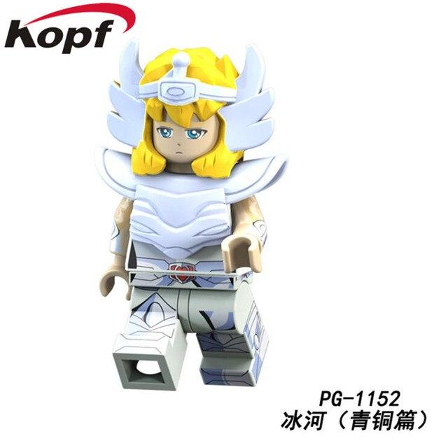 PG8128 Saint Seiya Super Heroes knights of the zodiac Athena Shiryu Glacier Tutankhamu Bricks Building Blocks Children Gift Toy 4