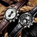 Homens relógio marca jedir populares masculinos de couro relógio de quartzo relógios homem relógios relogio masculino 2017 montre homme relojes hombre