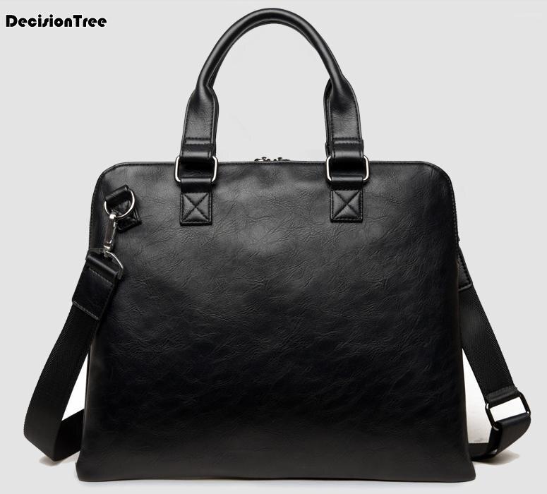 Famous Brand Casual Mens Briefcase Bags Pu Leather Male Messenger Shoulder Bag Designer Handbag High Quality Mens Business Bag