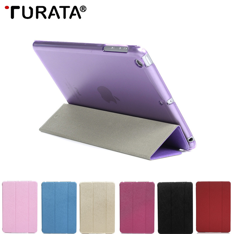 Turata Magnetic Slim Silk Leather Case For ipad 2017/Air/Air 2 9.7