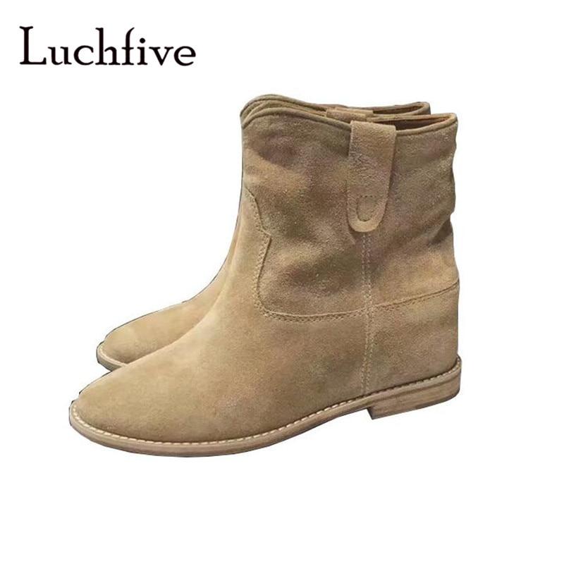 8cadd443cb466 Sexy pointy toe ankle boots women black khaki slip on short boots classic square  low heels fashion winter botas Feminina