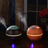 150ml Hot Sale LEDLight Ultrasonic Air Humidifier Mist Maker Fogger Electric Aroma Diffuser Essential Oil Aromatherapy