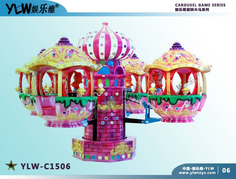 YLW C1506 amusement equipment coin operated kiddie ride for parks,amusement coin operated rotating helicopter for kiddie riding