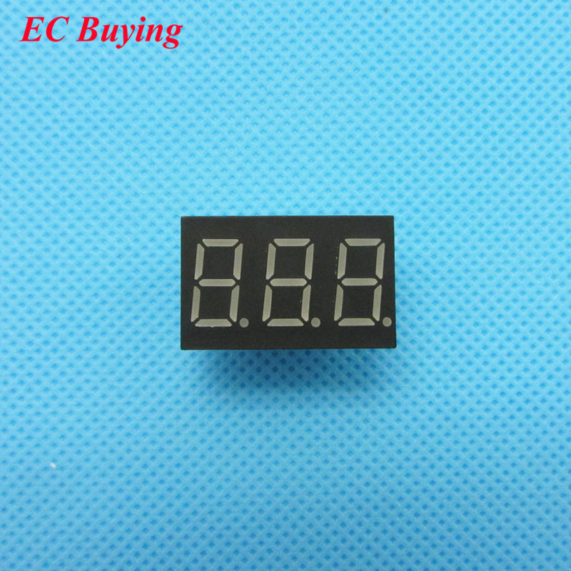 5pcs 3 Bit 3bit Digital Tube Common Anode Positive Digital Tube 0.36