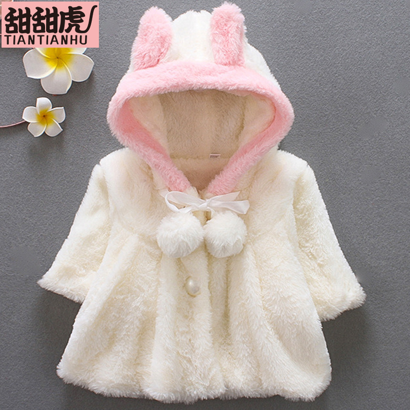 2018 Winter Faux Pelz Neue Geboren Mädchen Jacken Baby Mäntel Kleidung Kinder Cape-mantel Warme Mantel Strickjacke Kinder Kleidung Oberbekleidung