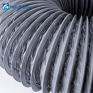 Image 5 - Hon & guan 5 m/10 m tubo de escape ventilador flexível de alumínio duto ventilação duto mangueira de ventilação para ventilação doméstica (4 8 8 8 8 8 gray, cinza)