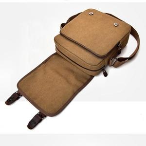 Image 5 - Hot Fashion Canvas Men Shoulder Bags Vintage Messenger Crossbody Bags for Men Satchel Big Capacity Casual Tote Bag Men Handbag