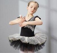 Ballet Dans TUTU Voor Kinderen Korte Mouw Dagelijkse Podium Dansen Rok Meisjes Zomer Zwart Zwanenmeer Ballet Kostuums