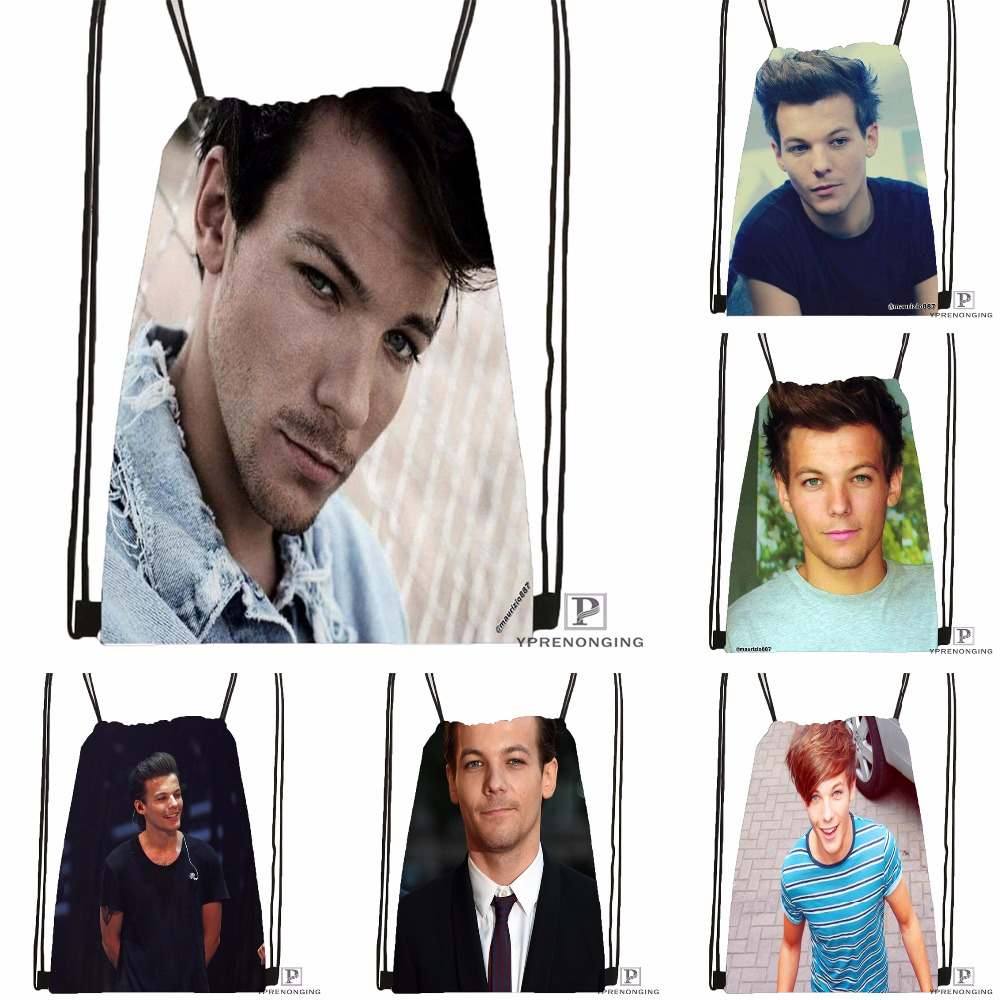 Custom  Louis Tomlinson Drawstring Backpack Bag Cute Daypack Kids Satchel (Black Back) 31x40cm#180531-02-39