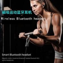 Bilateral de efeito de graves fone de ouvido Bluetooth estéreo sem fio universal do telefone móvel, movimento sem fio fone de ouvido Bluetooth moda headse
