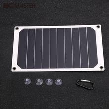 BCMaster 6W USB 2.0 Solar Power Panel Backup Battery Charger Outdoor Travel For Phones