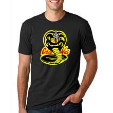 a40526d24 Vestido Vintage verano 2018 Cobra Kai T shirts men Karate T-shirt Cool  black mamba fashion cosplay costume Kobe Bryant Tee shirt