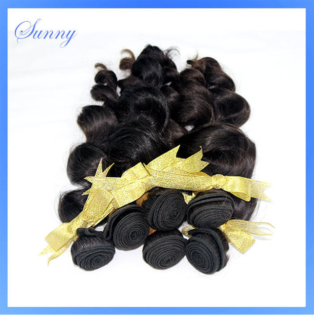 Attractive 6 pcs lot Sunny Hair Spiral Curl Very Smooth Remy Brazilian Hair Extension Noble Virgin Hair 10 to 28 Inches BF2960