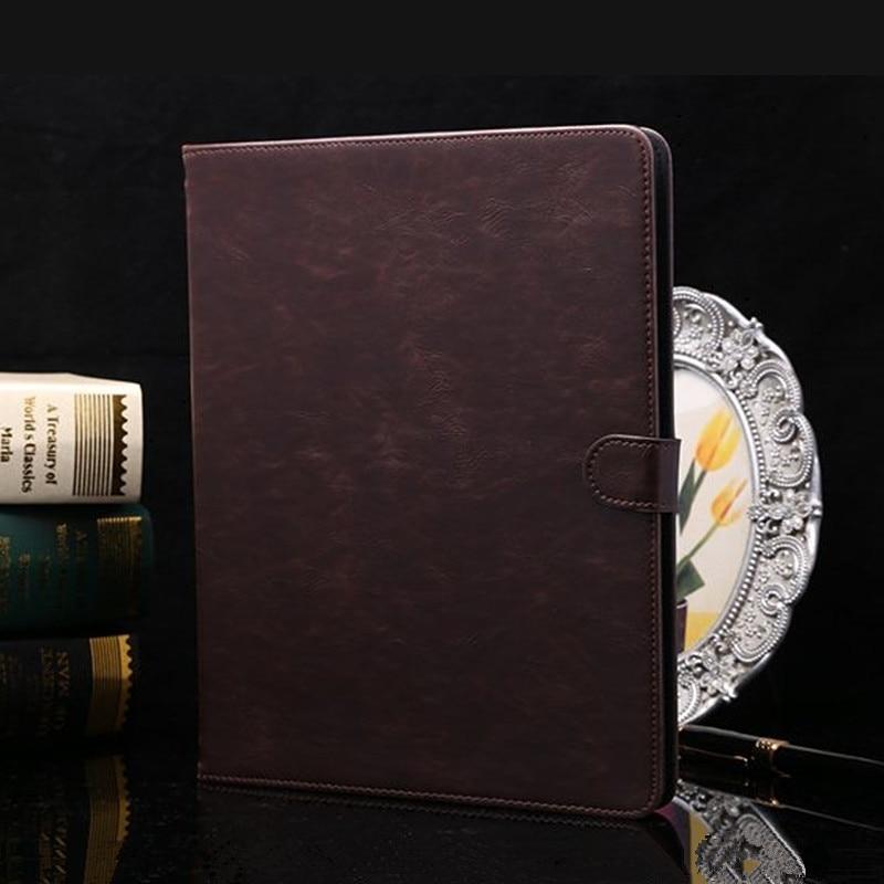 Luxo pu estojo de couro para ipad 2 3 4 virar vintage tampa do - Acessórios tablet