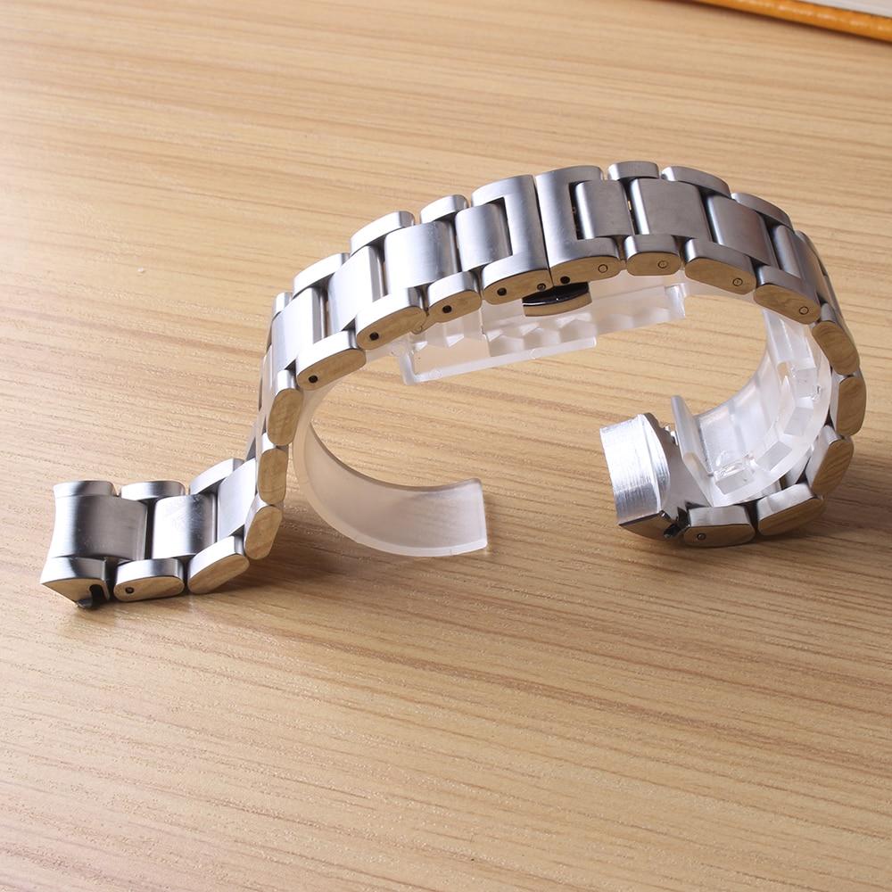 Fit Samsung Montres BANDE Bracelets Hommes Vitesse S3 Classique accessoires 22mm extrémités recourbées argent en acier inoxydable de Montre en métal fermoirs