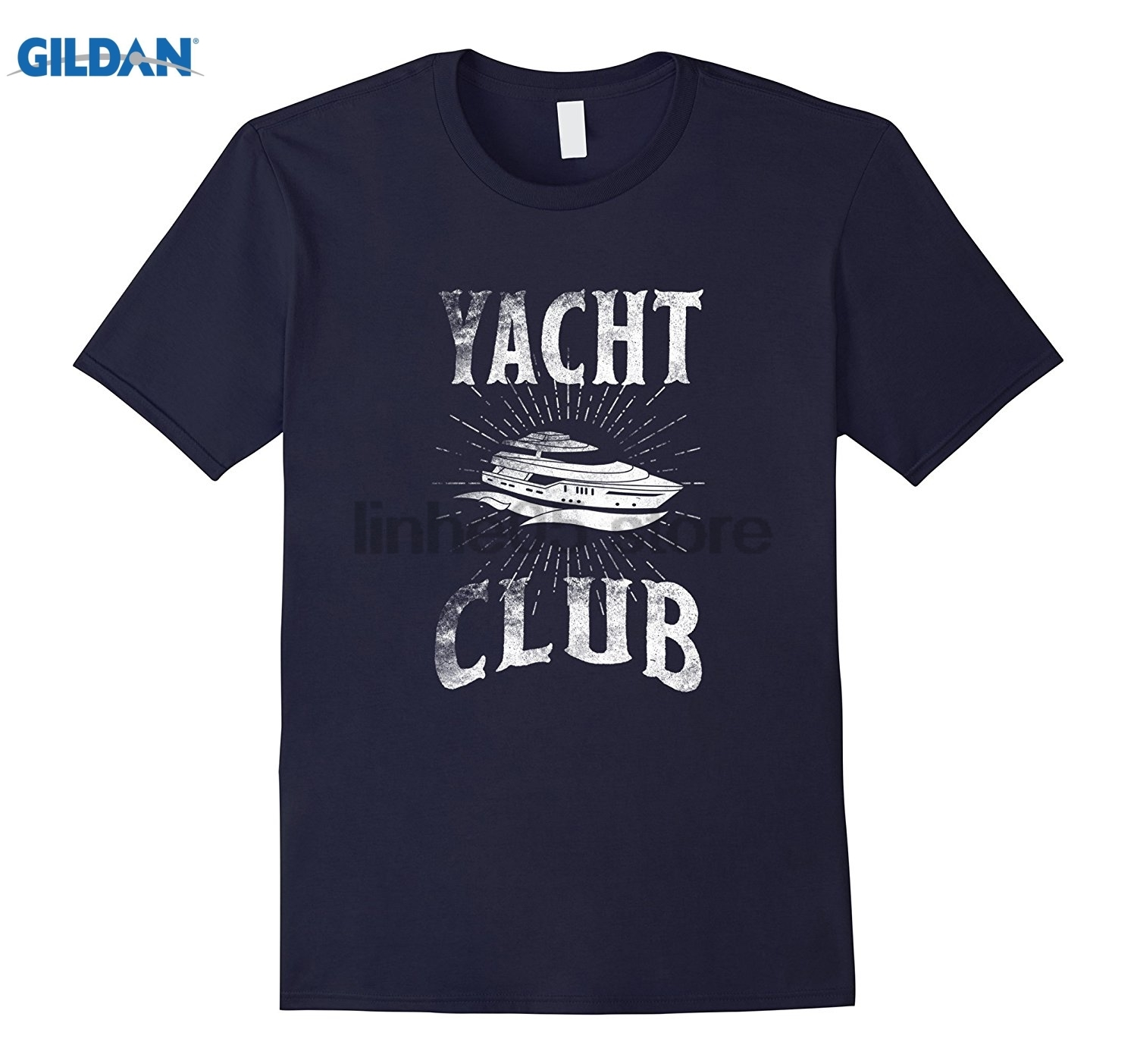 GILDAN Yacht Club Shirt Love Ship Boat Gifts USA Familiy Cruise Tee Womens T-shirt