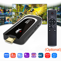 H96 Pro 4 K ТВ Stick Android 7,1 OS Amlogic S905X 4 ядра 2G 16G Mini PC 2,4G 5G Wi-Fi BT4.0 1080 P HD Miracast tv ключ H96Pro