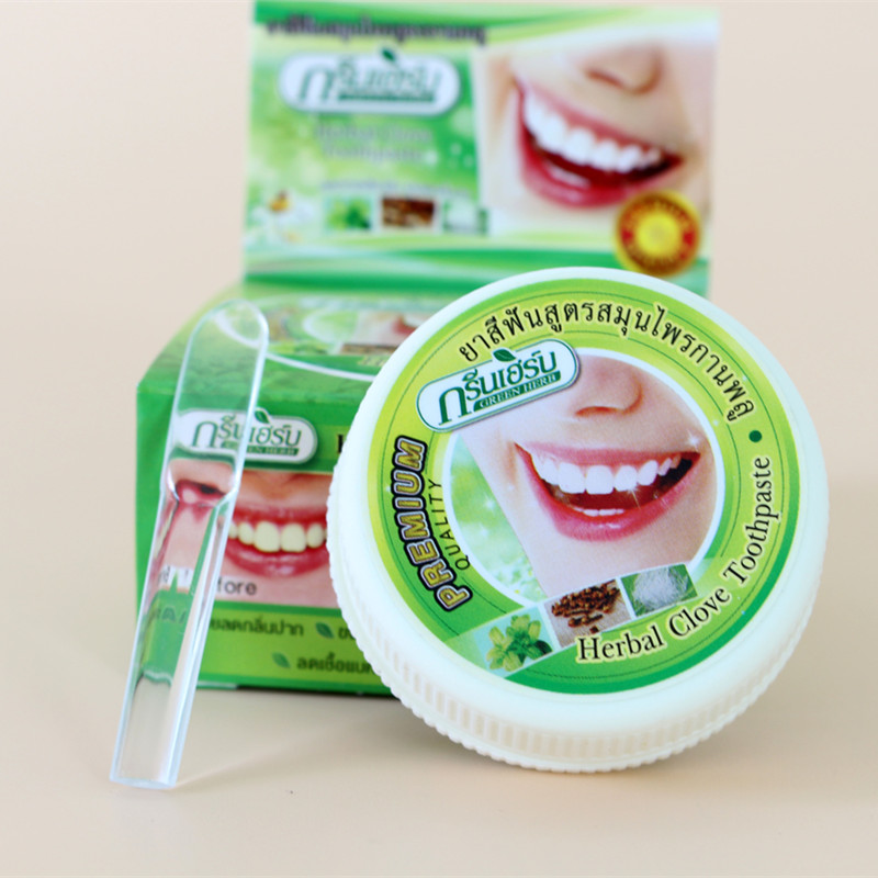 Thailand original herbal clove toothpaste anti-bacteria,whitening remove smoke tea yellow stains plaque to halitosis