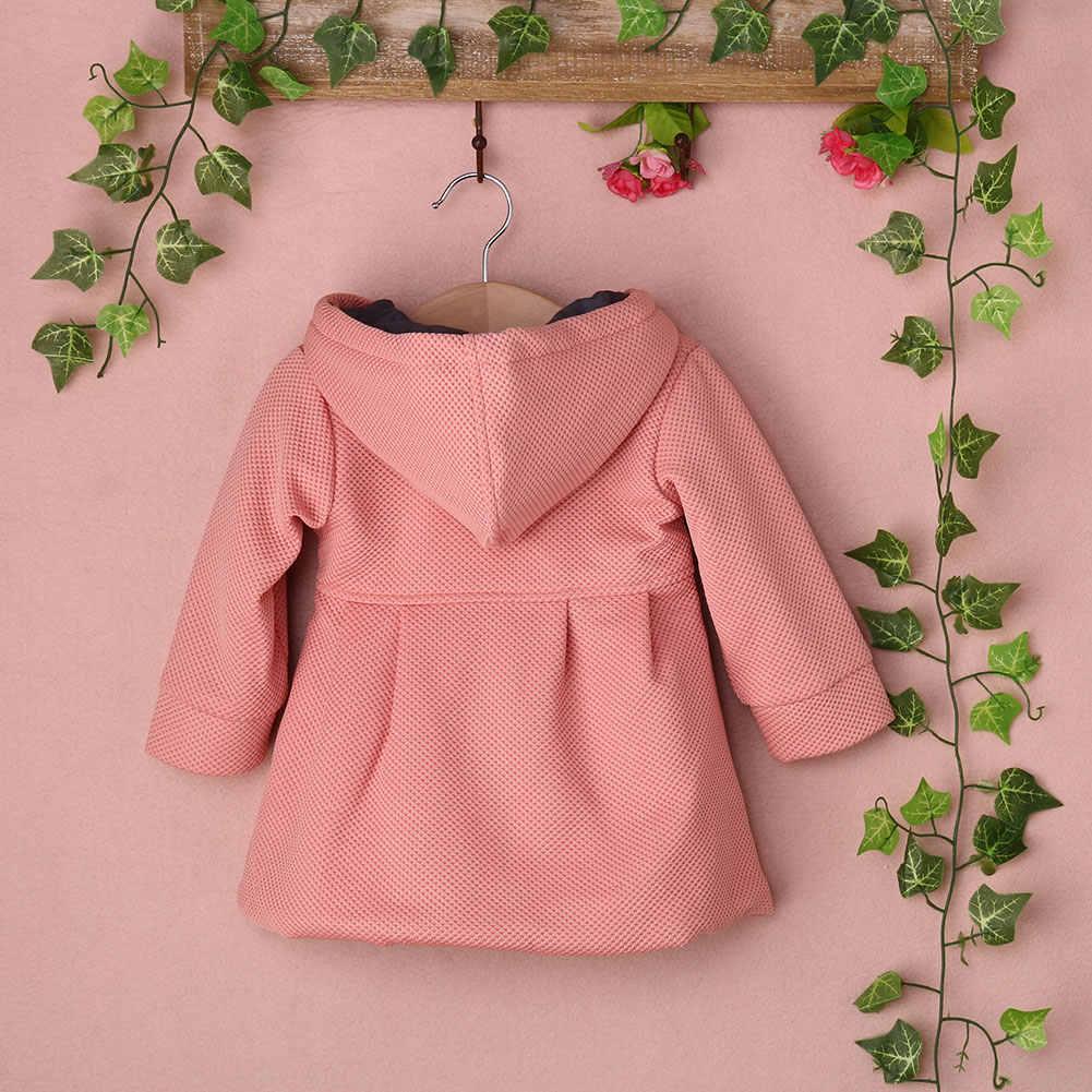 Pudcoco 0-3Y פעוט תינוק בנות חורף חם תעלת מעיל ברדס הלבשה עליונה מעיל בגדי אופנה SS