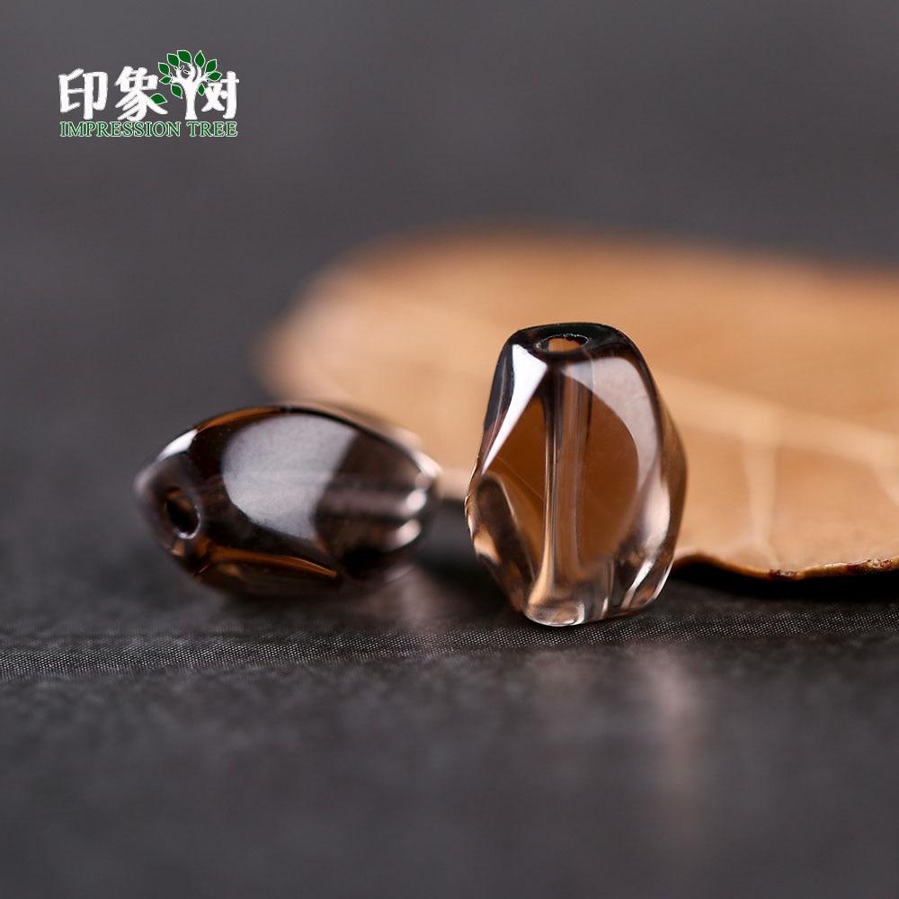 Natural Twist Irregular Shape Beads 7*9mm Clear Deep Dark Brown Crystal Quartz Rock Spacer Beads For DIY Jewelry Making  22005