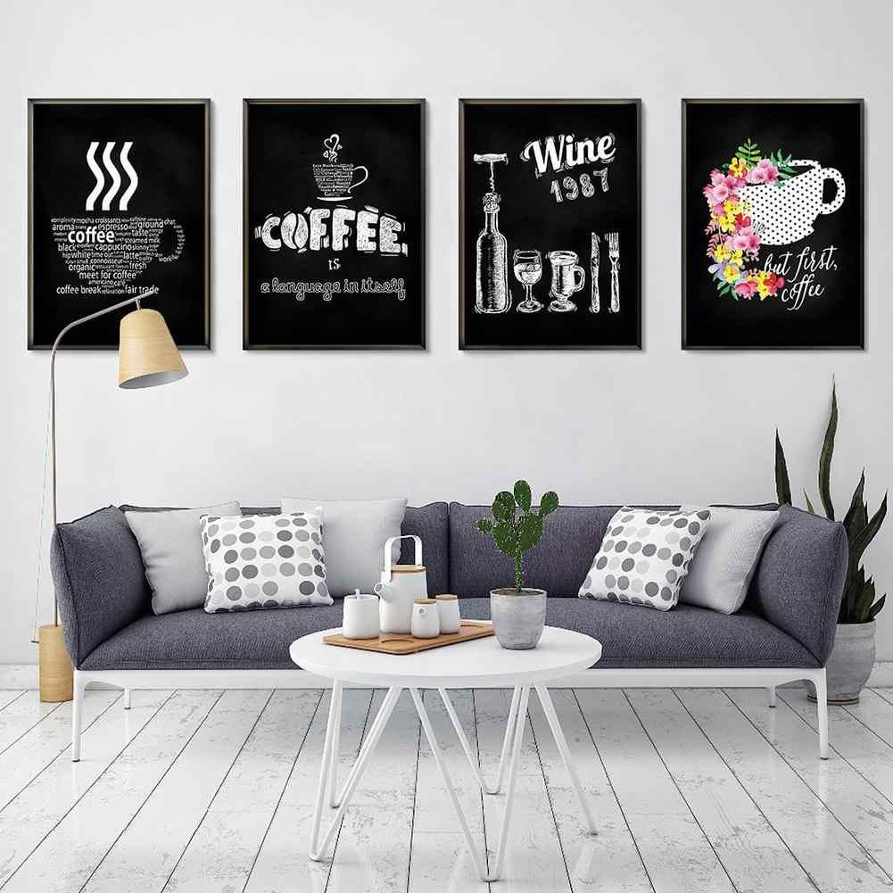 Tableau Noir Deco Pour Cuisine nordique simple tableau noir dessin toile impression peinture maison bar  café mur décoration nouveau chaud