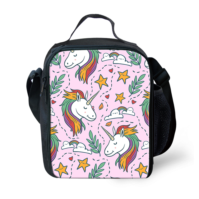 US $9 74 35% OFF|Unicorn Lunch Bags for Kids School Insulated Lunchbags  Reusable Snack Tote Bags Picnic Container Thermal Lunchbox Food Bags  Girl-in