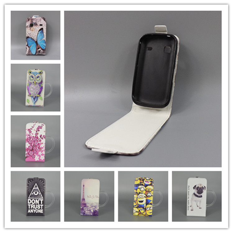 For Samsung Galaxy Gio S5660 Gt-S5660 Hot Pattern Cute PrintingVertical Flip Cover Open Down/up Back Cover filp leather case