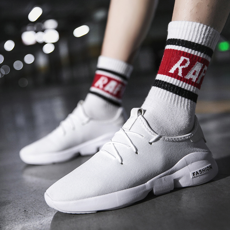 New  Men Casual Shoes Classic Low-Cut Flyweather Male Fashion Low Top Sneakers Footwear Plus Size
