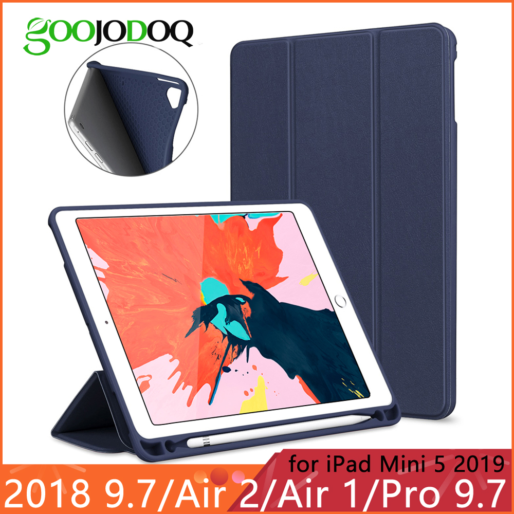 For iPad 2018 Case Pencil Holder Funda for iPad 6th Generation / Air 2 / Air 1 / Pro 9.7 / iPad Mini 5 2019 Case Smart CoverFor iPad 2018 Case Pencil Holder Funda for iPad 6th Generation / Air 2 / Air 1 / Pro 9.7 / iPad Mini 5 2019 Case Smart Cover